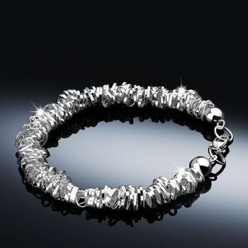 Newbridge Silver Beaded heart bracelet