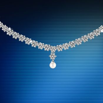 Newbridge Vintage Grace Kelly Pearl and Crystal Necklace