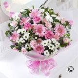Pink & White  Hand tied Bouquet