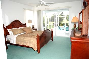 Master Bedroom Sliding Doors to Pool Area