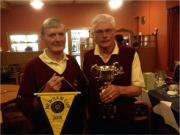 Newsam Cup Team Captain Michael Ennis and Vice Captain Kevin Lombard