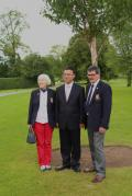 Lady Captain Mary McCabe, Cllr. Lijun Wu and Captain Peter Burns