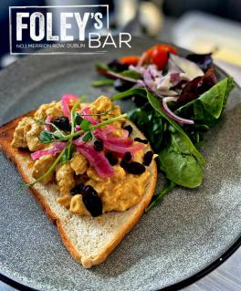 Coronation Chicken Open Sandwich