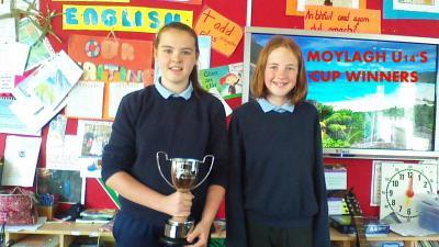U14 Cup winners  Ellen & Cara