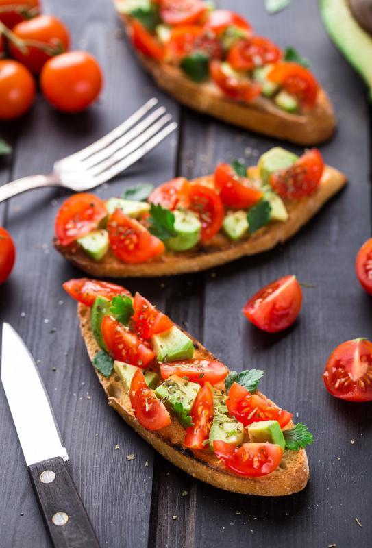Avocado and Tomato Bruschetta