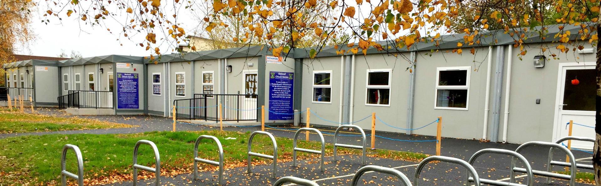 Instaspace provided a solution for Gaelscoil Cluain Dolcain, Dublin