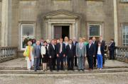 Cllr. Lijun Wu, Captain Peter Burns, Lady Captain Mary McCabe and Tourism Group at Headfort House