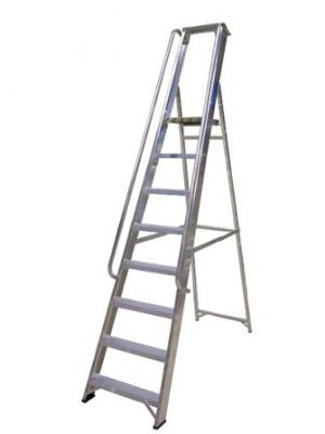 Aluminium Stepladder with handrails