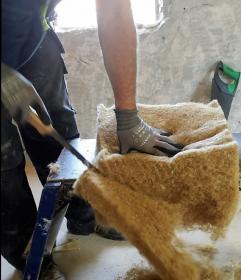 Cutting Hemp Insulation