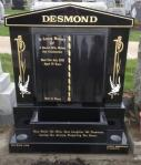 Black Granite Book Set Headstone