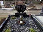 Double Heart Headstone