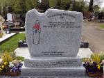 Granite C1 Roughback Headstone