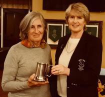 PGA Tankard Winner Ada Davis with Lady Captain Therese Kirwan