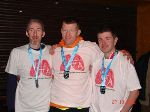 Andrew, Stephen & Peter with their well deserved medals