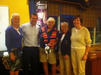 Prize Winners with Professional John Byrne and Lady Captain Vera Boyle