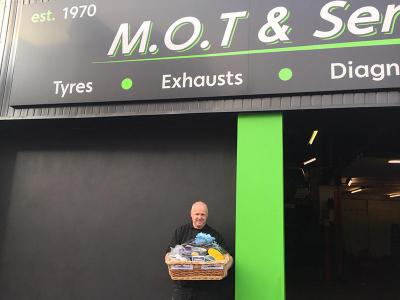 Our Winner of the ProWorx hamper in our raffle during the Auto Trade Expo 16. Brian Doherty, Derry.