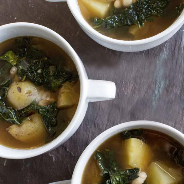 Potato Kale and Cannellini Bean Soup