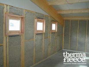 Thermafleece Natural wool insulation wall application